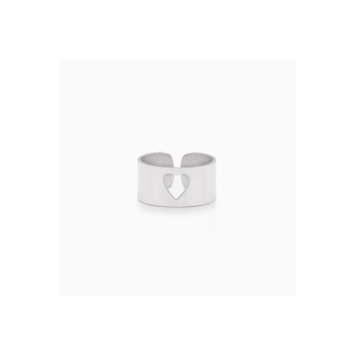 pierścionek cutout heart