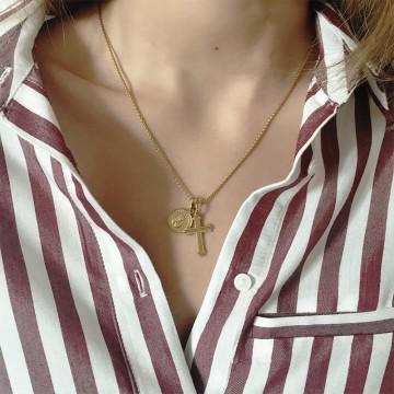 Naszyjnik Charm Cross