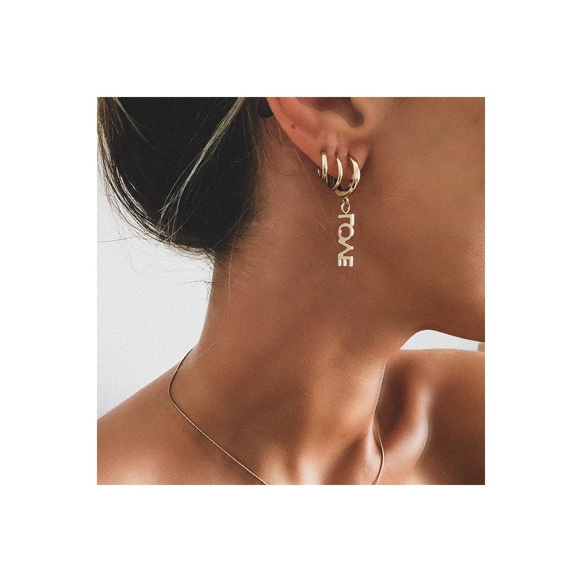 Earrings  Letters LOVE