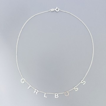 Necklace Letters Name It Silver