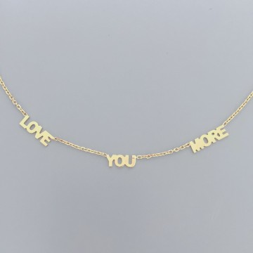 Necklace Expression Love You More