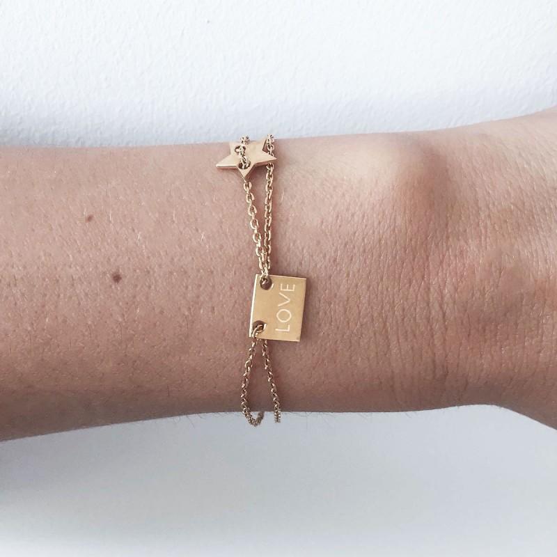 cd356f845a93 Bracelet Charm Love Star - MISS QUOTE