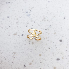 Ring Letters Gold Plated