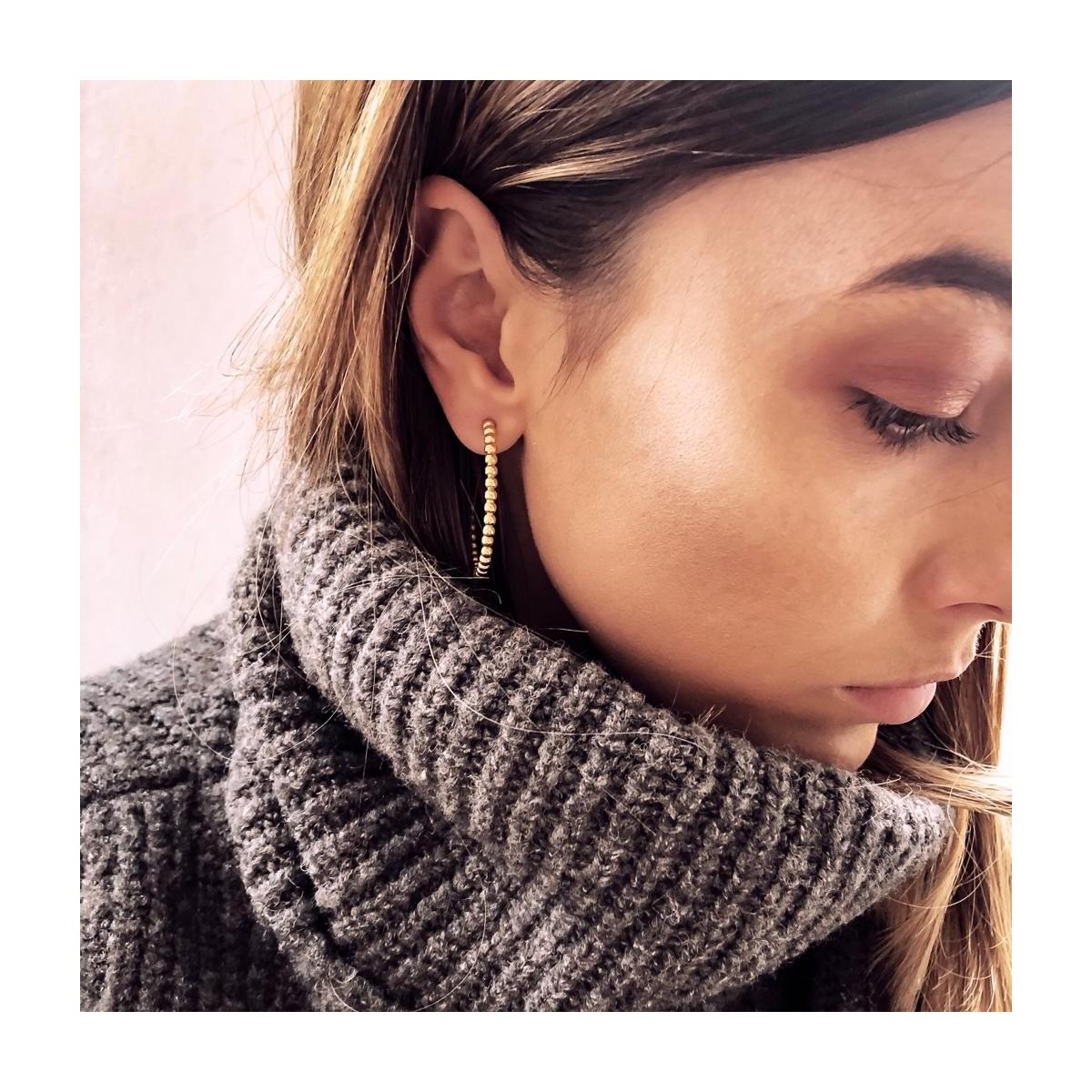 Earrings Beaded Hoops
