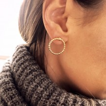 Earrings Beaded  Mini Hoops