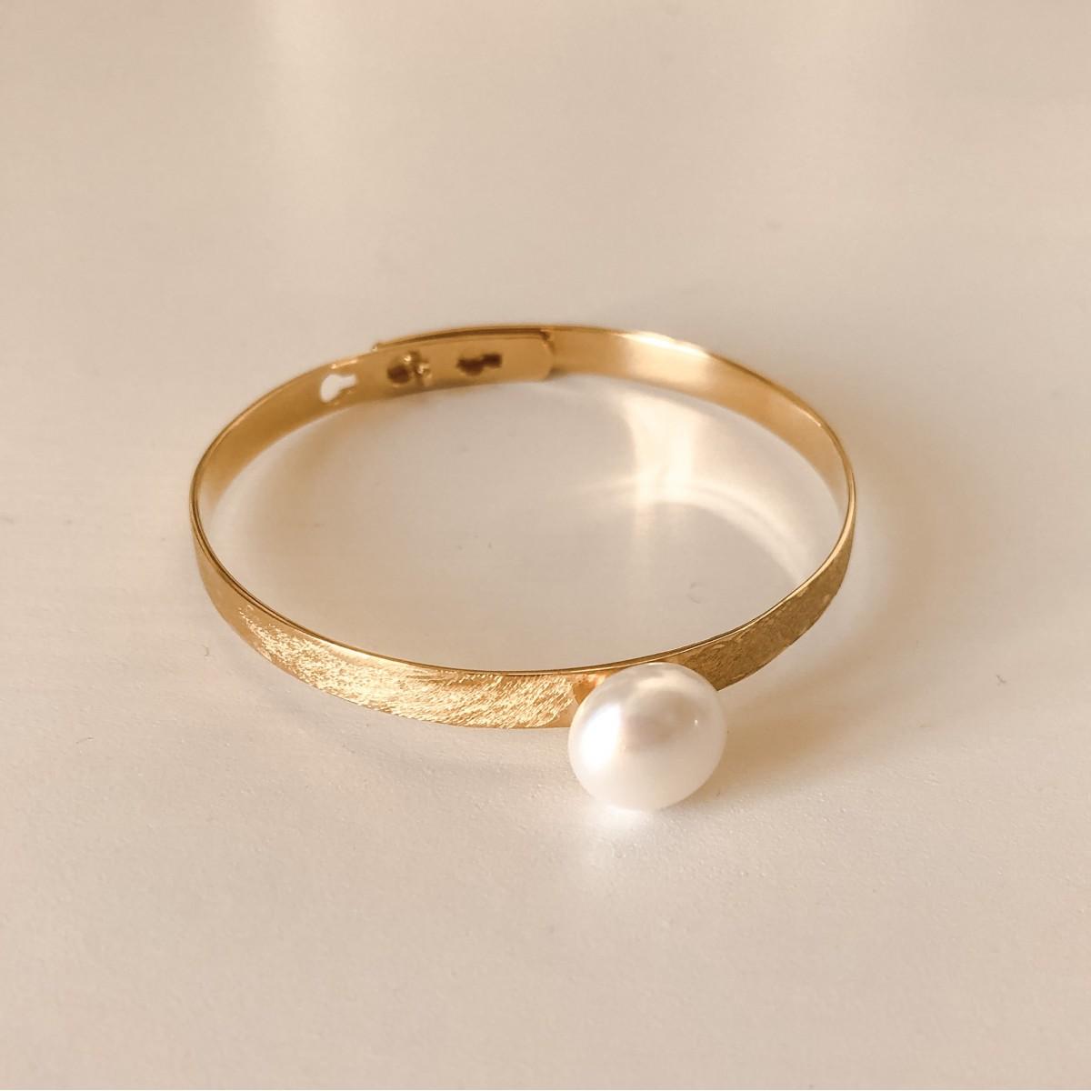 Bracelet Basic White Pearl