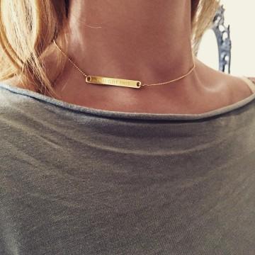 Necklace Bar GOLD 14K