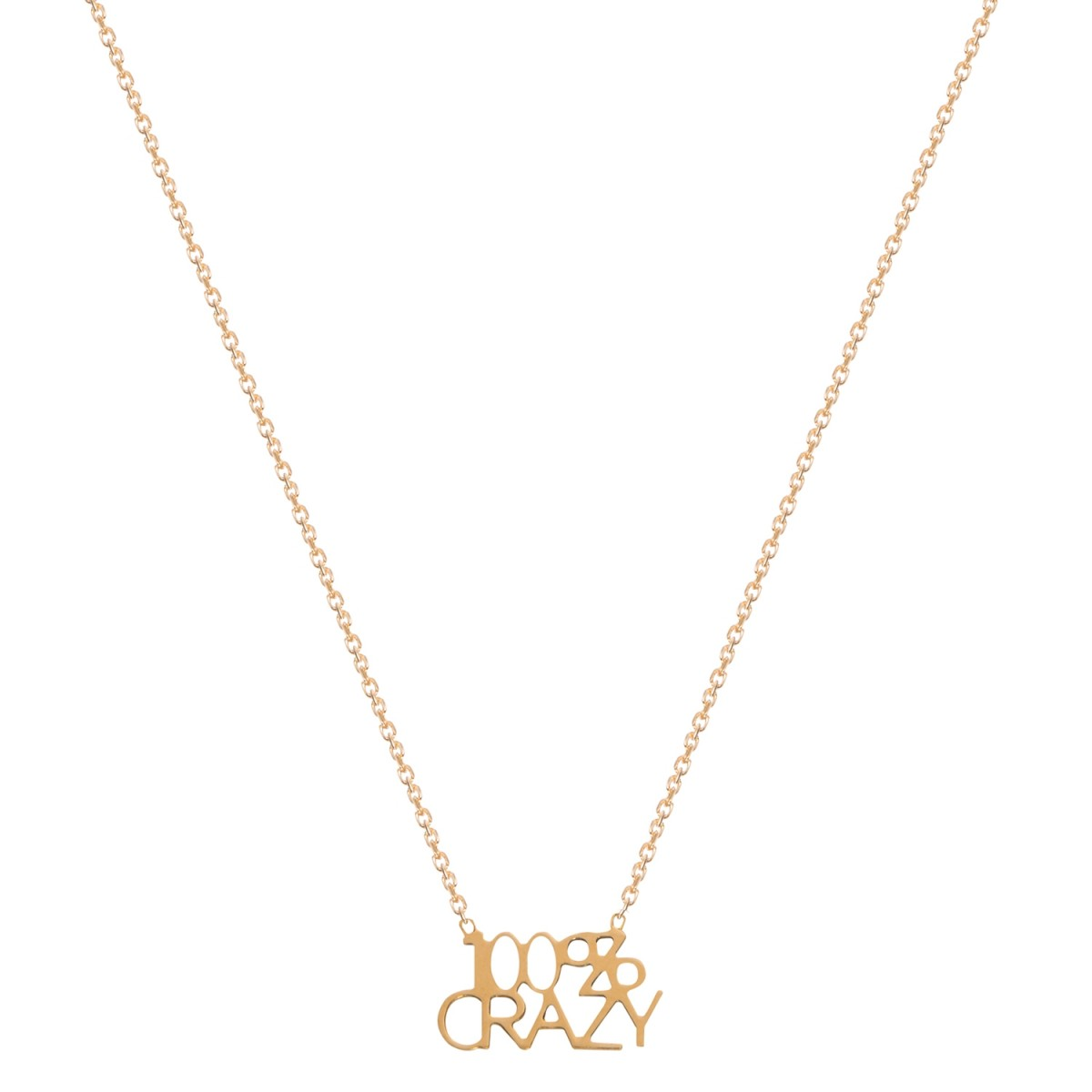 Necklace  Letters 100% Crazy Gold Plated