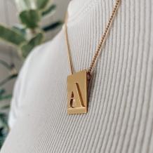 Necklace Bar Letter