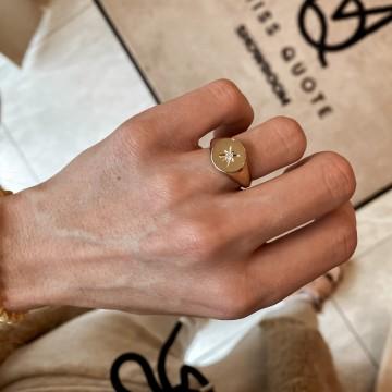 Classic Signet Ring Cubic Zirconia