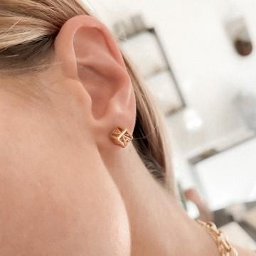 Earrings Letters Cubes