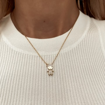 Necklace Charm Girl