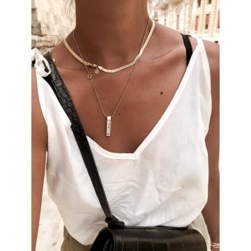 Necklace Letters Cube Long
