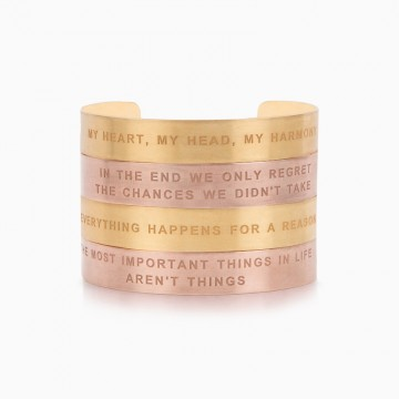 BRACELET WIDE EVERYTHING HAPPENS FOR A REASON
