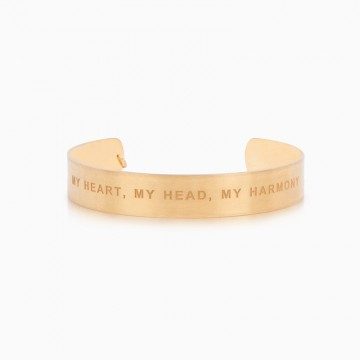 BRACELET WIDE MY HEART, MY HEAD, MY HARMONY
