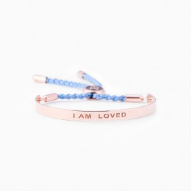 Bracelet LACES I AM LOVED ROSE GOLD PLATED