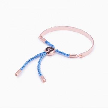 Bracelet LACES I AM LOVED ROSE GOLD PLATED