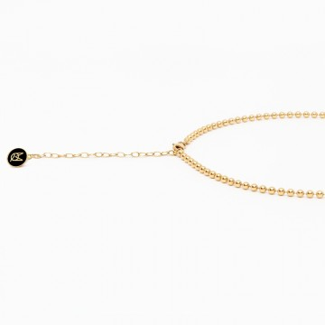 choker beaded shine gold plated