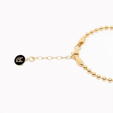 bracelet beaded shine gold plated