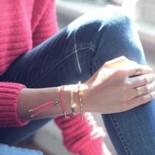 bracelet beaded rosary gold plated