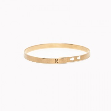 Bracelet Basic Man Young, Wild & Free Mat Gold Plated