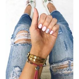 Bracelet LACES BE HAPPY Silver