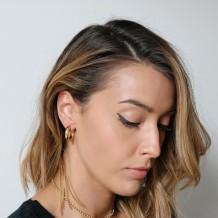 Earrings Boho Hoop MiniGold Plated